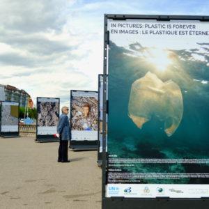 Rotonde du Mont-Blanc - Plastic is Forever - 5 July 2021 - Copyright UNEP, Malou Lenoir